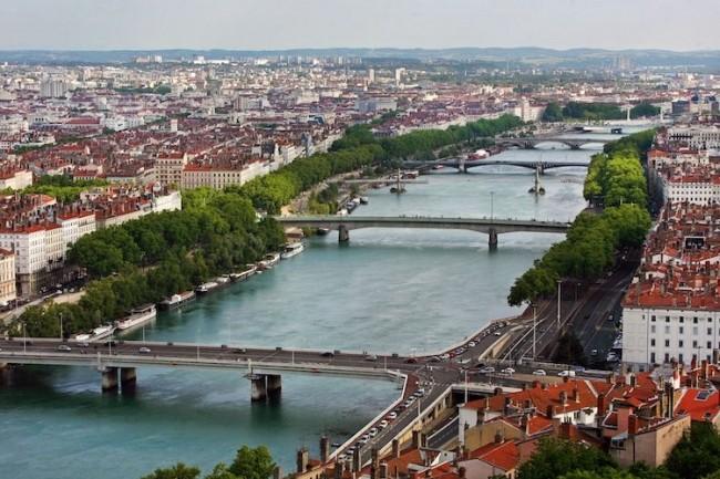 La ville de Lyon accueille les tests 5G de Bouygues Telecom. (Crédit D.R.)