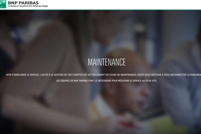 La banque BNP Paribas affectée par une panne nationale