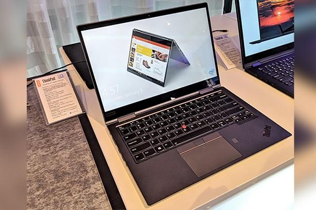 En dehors de leur puce Whiskey Lake intégrée, les mises à jour des X1 Carbon et Yoga de Lenovo sont maigres. (Crédit : IDG)