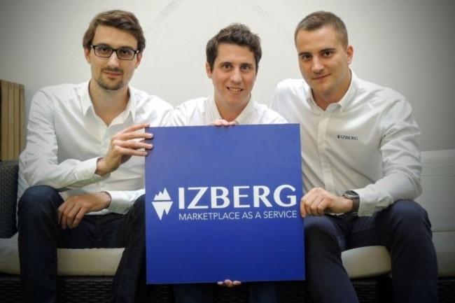 Les trois cofondateurs d'Izberg (de gauche à droite) Benoît Feron, Florian Poullin et Luc Falempin vont rejoindre la direction Solutions du groupe de services IT Open. Crédit. D.R.