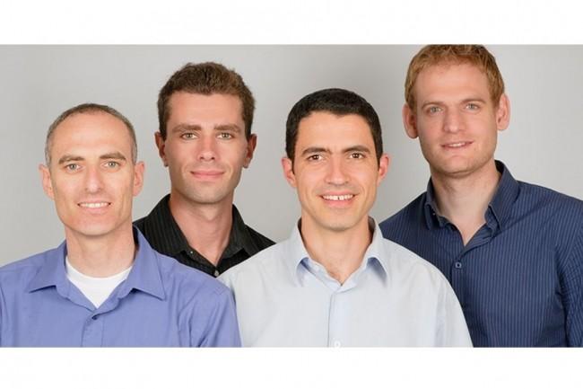 L'équipe de CloudEndure, (de gauche à droite) Ofer Gadish CEO, Leonid Feinberg, vice-président produits, Gil Shai, directeur responsabilité social et environnemental, et Ofir Ehrlich, vice-président R&D. (crédit : D.R.)