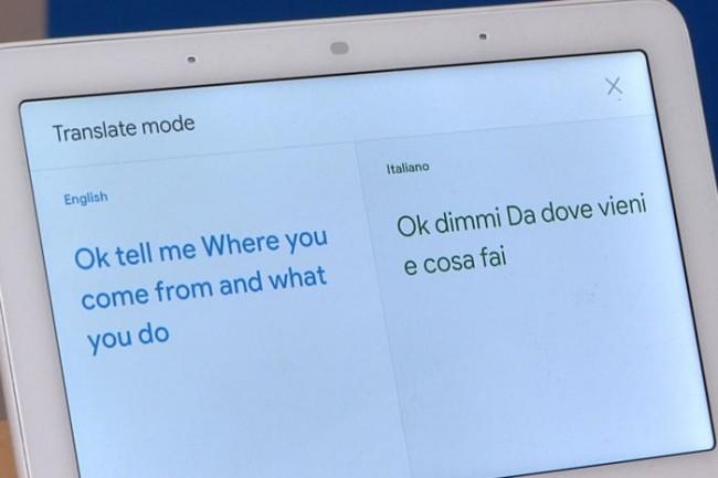 Google Assiatant détecte la langue utilisée puis la traduit à haute voix pour assurer une conversation. (Crédit Martyn IDG)