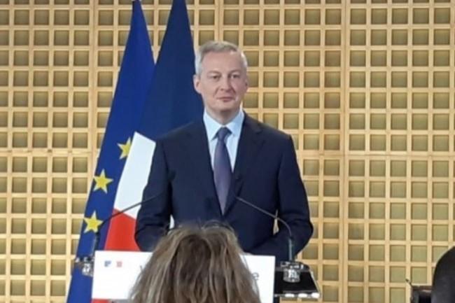 Ministre de l'Économie et des Finances, Bruno Le Maire a rétabli la tradition des vœux à la presse (crédit : B.L.)