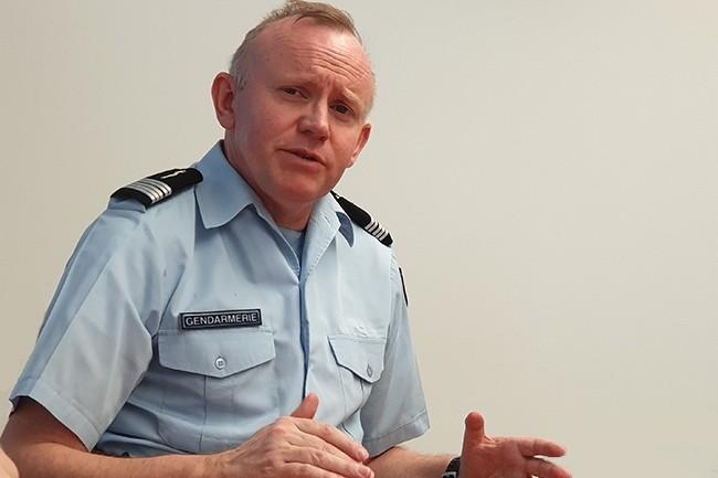 Le colonel Jean-Dominique Nollet a pris la tête du C3N en août 2018. Il officiait auparavant au sein d'Europol. (Crédit : Nicolas Certes)