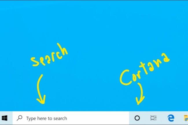 Voici à quoi ressembleront Cortana et Search sous Windows dans la prochaine version 19H1 de Windows 10. (Crédit: Microsoft)