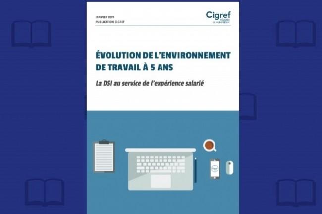 « Evolution de l'environnement de travail à 5 ans - La DSI au service de l'expérience salarié » est disponible en téléchargement sur le site du Cigref.