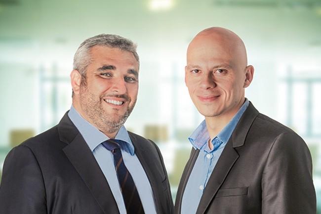 Arnaud Berrebi (à gauche), président de Nelite, et Maxence Censier, son directeur général rejoindront le comité exécutif d'Exakis Nelite. (Crédit : D.R.)