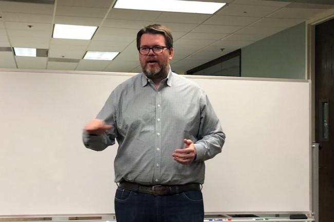 Timothy Harder, general manager de RStor, vient apporter aux entreprises la souplesse du cloud dans le HPC. (Crédit : S.L.)