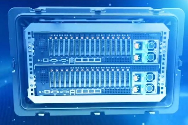 Tactical Azure Stack embarque les même composants que l'infrastructure Dell EMC Cloud for Azure Stack, dans un format double rack compact. (crédit : Tracewell Systems)