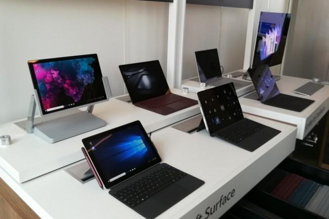 A l'occasion de l'arrivée de la gamme Surface for business chez Microsoft, les Surface Pro, Laptop et Studio bénéficient d'une mise à jour. (Crédit : Bastien Lion)