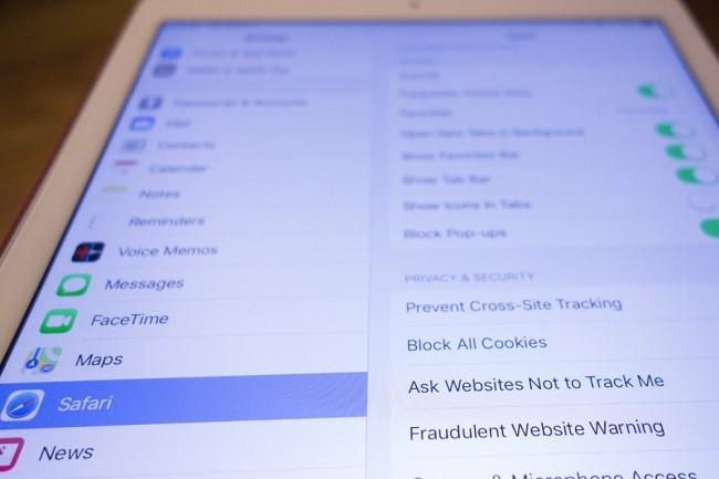 Jusqu'à maintenant, une option visant à demander aux sites web de ne pas vous suivre était disponible dans les paramètres des terminaux Apple. (Crédit : Michael Simon/IDG)