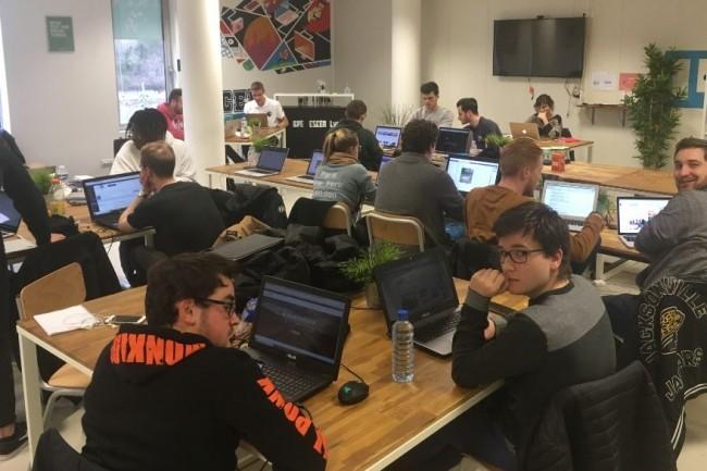 Le projet pilote de l'école d'informatique du réseau Webtech Institute a accueilli une promotion de 30 étudiants à Paris. Crédit. .D.R.