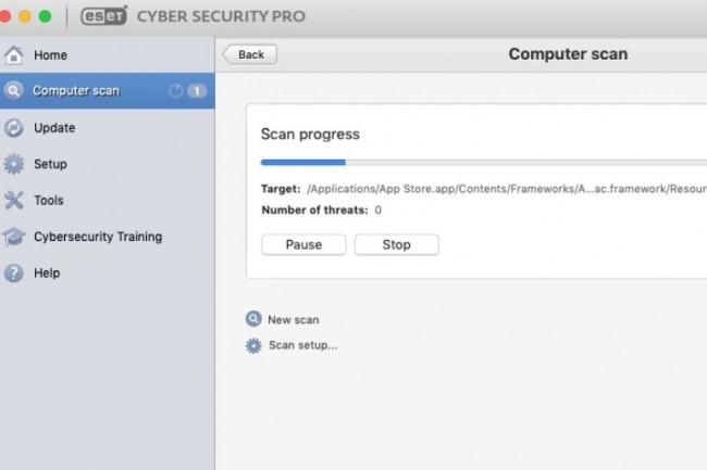 La navigation dans Eset CSP pour Mac est facilitée par le ruban de gauche qui donne accès à toutes les actions effectuées dans la partie principale de la fenêtre. (crédit : IDG)