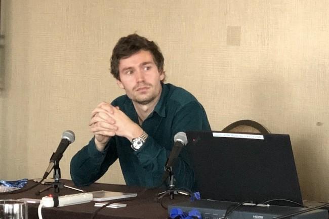 Julien Trost, ingénieur à l'IFPEN, a travaillé avec Speedernet pour porter des projets CAO vers le web en réalité virtuelle. (Crédit S.L.)