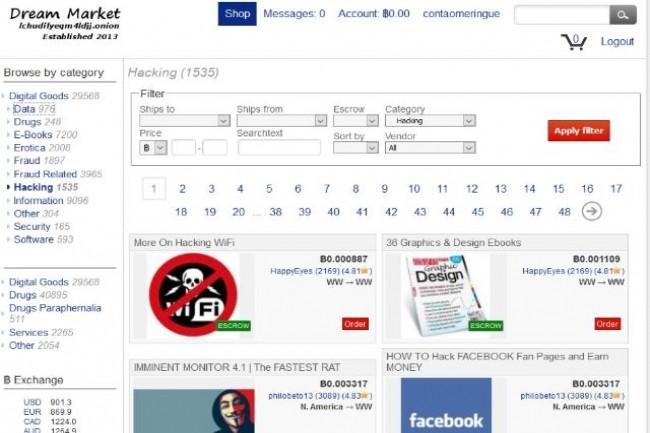 Suite au piratage de 16 sites web, plusieurs datasets contenant 617 millions d'informations privées sont en vente sur Dream Market. (crédit : D.R.)