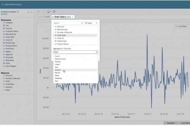 Avec Ask Data, les utilisateurs de Tableau saisissent leurs requêtes au fil de l'eau et le logiciel de datavisualisation affiche les données sous la forme graphique la plus adaptée. (Crédit : Tableau)