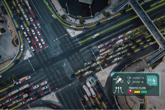 Les travaux de l'Institut de recherche en IA financé par Here Technologies porteront notamment sur l'optimisation des modèles de prévision du trafic routier urbain. (Crédit : Here)