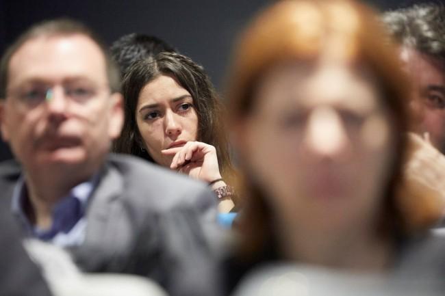 La conférence «La performance pilotée par l'agilité» a été organisée par CIO au centre d'affaires Paris Trocadéro le 19 février 2019. (crédit : Bruno Lévy)