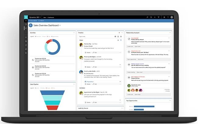 Microsoft Dynamics est l'ERP le plus utilisé par les entreprises de moins de 5000 salariés ayant répondu à l'étude de CSA. Au-delà, SAP est privilégié (52% et jusqu'à 70% au-delà de 50 000 salariés). Crédit photo : Microsoft