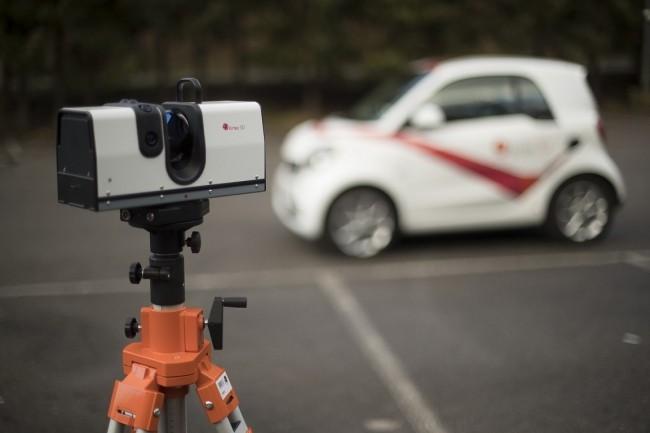 Ray permet de retranscrire une copie numérique d'objets volumineux avec précision, jusqu'à 110 mètres de distance. (Crédit : Artek 3D)