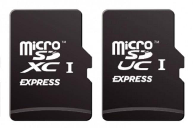 Les logos microSD Express, tels que fournis par l'association SD. (Crédit : Association SD)