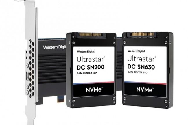 Pour répondre à différents besoins dans les entreprises, Western Digital mise sur le protocole NVMe poru ses derniers SSD. (Crédit WD)