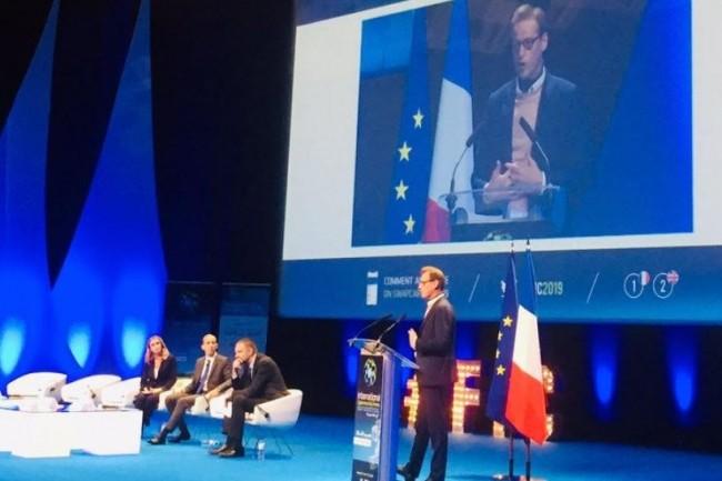 Jean-Noël de Galzain, PDG de Wallix, s'est exprimé lors du dernier FIC 2019. (crédit : D.R.)