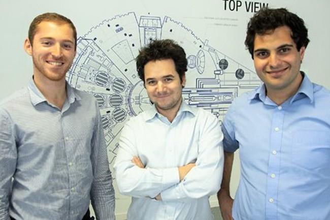 Fondée à Paris en 2014, par Jeremy Jawish, (de gauche à droite) Eric Sibony et David Durrleman, Shift Technology compte aujourd'hui plus de 70 clients. (Crédit : Shift Technology)
