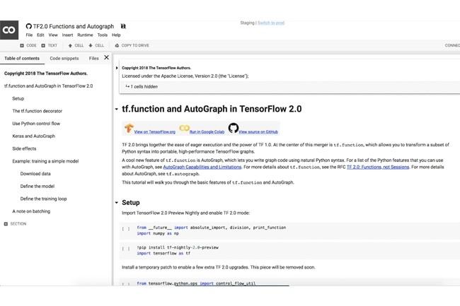 La fonctionnalité Autograph doit faciliter l'écriture de modèles avec des opérations de contrôle de flux personnalisées. Tf.function s'y ajoute pour apporter de meilleures performances graphiques. (Crédit : TensorFlow)