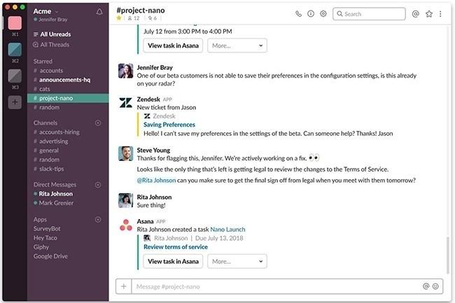 Des pirates utilisent Slack pour cacher leurs communications malveillantes. (Crédit D.R.)