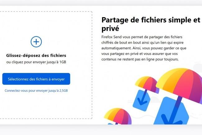 Le service de Firefox est très similaire à ceux de WeTransfer ou Smash. (Crédit : Mozilla)