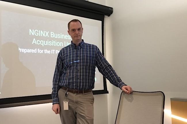 Rob Whittle, chief marketing officer chez Nginx, se montre très confiant au sujet de la survie de l'open source après le rachat par F5 Networks. (Crédit S.L.)