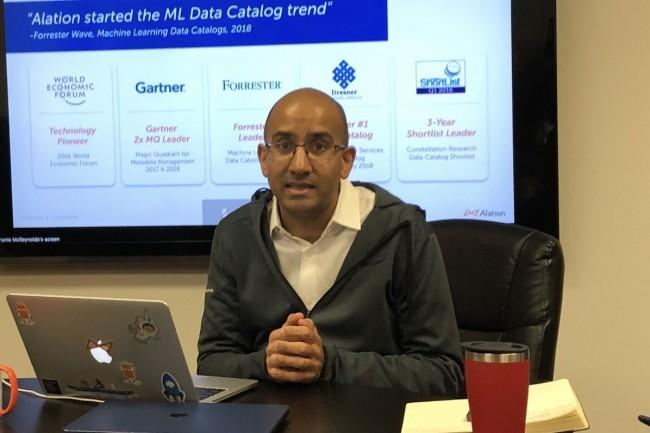 CEO et cofondateur d'Alation, Satyen Sangani entend aider les entreprises à valoriser leurs données. (Crédit S.L.)