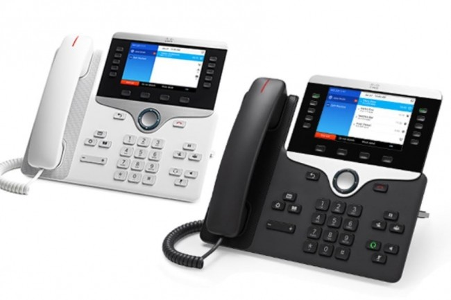 Le modèle de téléphone IP8841 de Cisco fait partie de ceux exposés à une faille de sécurité. (crédit : Cisco)