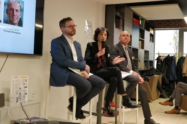 Les DRH de Vyv, Spie-Batignolles et Bouygues ont expliqué leur vision de l'agilité dans les ressources humaines. (Crédit Photo : Jacques Cheminat)