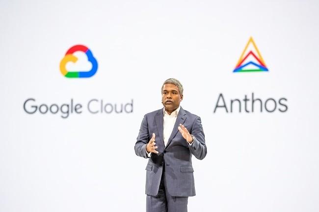 Thomas Kurian, CEO de Google Cloud, veut aider les entreprises à migrer leurs applications dans le multicloud. (Crédit Photo : Google)