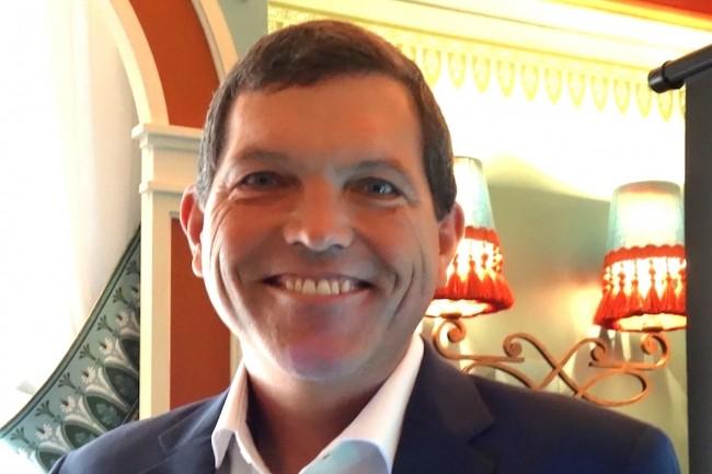Succédant à George Teixeira, Dave Zabrowski a pris il y a un an le poste de CEO du fournisseur de logiciels SDS, basé à Fort Lauderdale (Floride). Ci-dessus, lors de sa visite à Paris le 9 avril 2019. (Crédit : LMI/MG)
