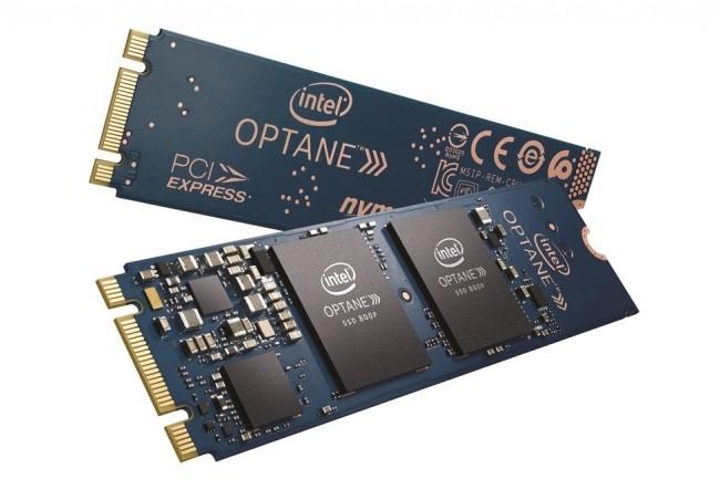 Optane Memory est utilisé pour améliorer les performances des disques durs dans de nombreux ordinateurs - portables et desktops - à budget limité. (Crédit : Intel)