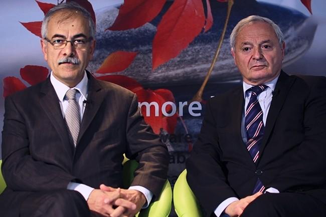 Les fondateurs-dirigeants de SAB, Henri Assaf (à gauche) et Olivier Peccoux devraient garder leurs fonctions à l'issu du rachat total de leur entreprise. (Crédit : SAB)