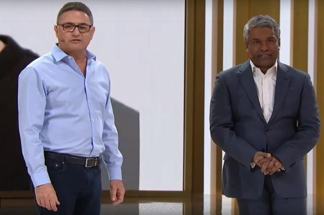 Ofer Bengal, CEO de Redis Lab et Thomas Kurian, CEO de Google Cloud ont vanté les mérites de leur partenariat. (Crédit Photo : Google)
