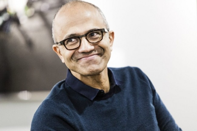 Satya Nadella, CEO de Microsoft, est l'un des principaux artisans de l'ouverture de la firme au monde de l'open source. (Crédit : Microsoft)