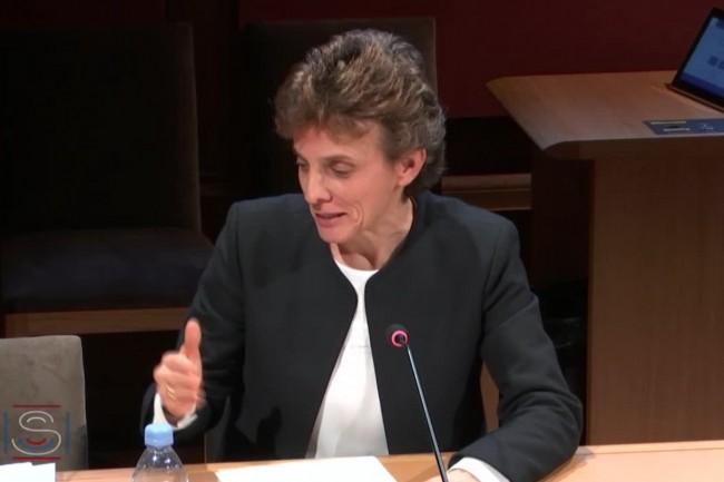 Marie-Laure Denis a succédé à Isabelle Falque-Pierrotin en février dernier à la présidence de la CNIL. (ci-dessus lors de son audition au Sénat en janvier 2019 - Crédit : Sénat)