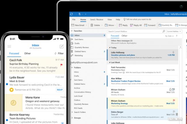 Au départ, Microsoft pensait que les attaquants ne pouvaient avoir accès qu'à l'objet du courriel et à l'adresse d'envoi, mais il a confirmé hier que les pirates ont pu aussi avoir accès au contenu des emails. (Crédit : Microsoft)