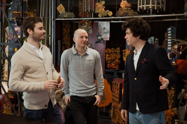 De gauche à droite, les 3 dirigeants de 360Learning, Guillaume Alary, directeur général, Sébastien Mignot, directeur technique, et Nicolas Hernandez, président, installé à New York. (Crédit : 360Learning)