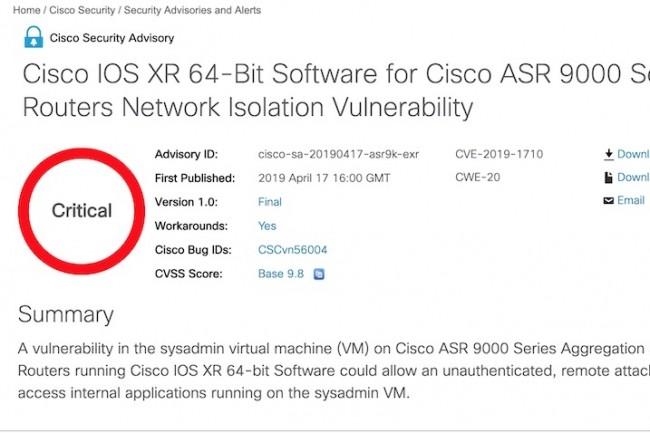 Cisco invite ses clients à corriger plusieurs failles de sécurité urgentes.