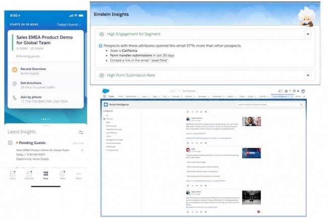 Sur Sales Cloud, Einstein Insights fait remonter les informations les plus pertinentes pour aborder son prochain rendez-vous. (Crédit : Salesforce)