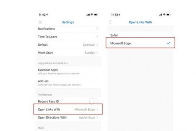 Lorsque Edge est défini comme navigateur par défaut dans l'application Outlook et que l'accès conditionnel est activé, toutes les ressources Web connectées à Azure AD s'ouvrent dans Edge et sans authentification supplémentaire. (crédit : D.R.)