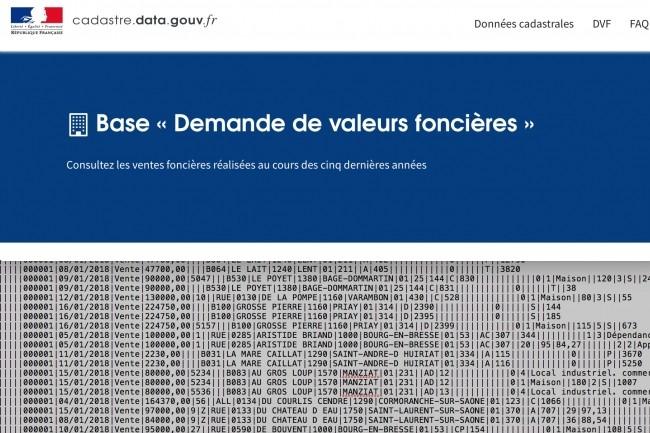Bercy met en open data les ventes foncières depuis 2014