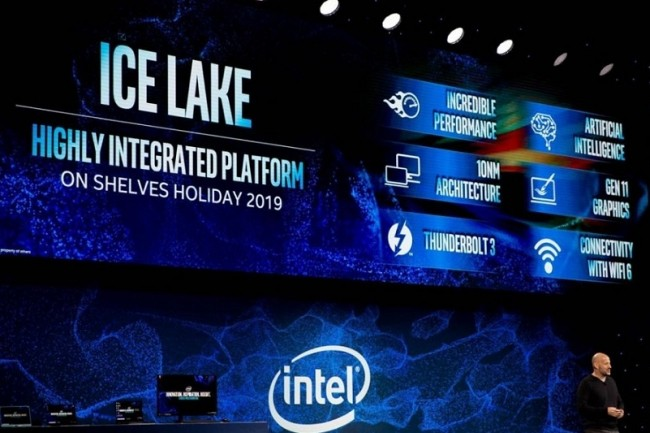 Intel a présenté son Ice Lake durant le CES, en janvier dernier. (Crédit : Intel)
