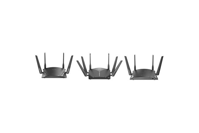 Les trois routeurs WiFi que livre D-Link offrent des vitesses de transfert sans fil combinées bi-bande et tri-bande atteignant respectivement 1900 Mbits/s, 2533 Mbits/s et 3000 Mbits/s. (Crédit : D-Link)